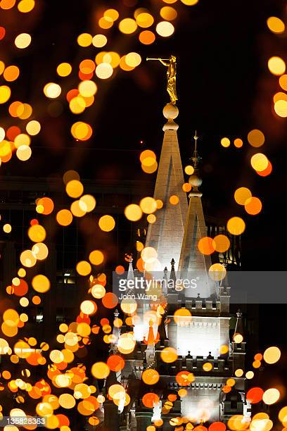 The Angel Moroni Statue on the LDS temple