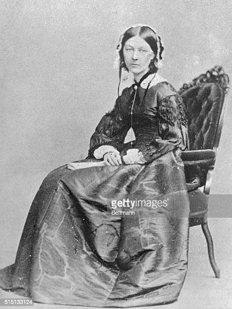 The Angel of the Battlefields Florence Nightingale is shown here The English philanthropist was the founder of military hospital work This picture...