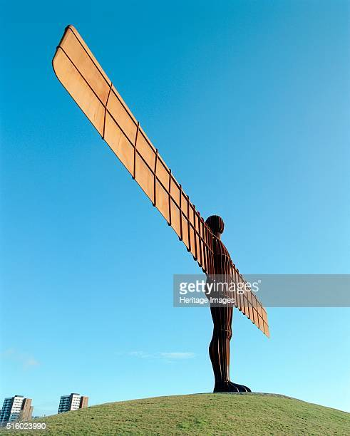 The Angel of the North Gateshead Tyne and Wear c2000s Antony Gormley's steel sculpture of an angel completed in 1998 Artist Historic England Staff...