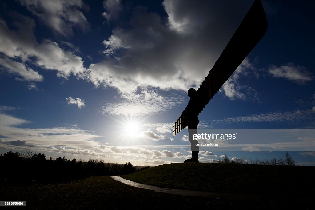 The Angel of the North statue in Gateshead on March 4th 2015 in Newcastle