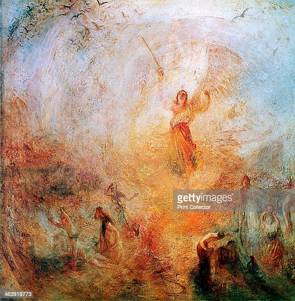 'The Angel Standing in the Sun' 1846 The Archangel Michael with flaming sword on Judgement Day From Tate Britain London