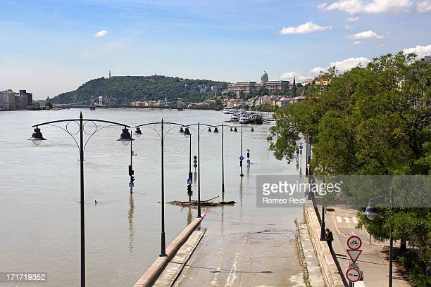 The Angelo Rotta wharf disappears in the water caousing a traffic chaous in the city as the main North-South roads along the river falling out of...