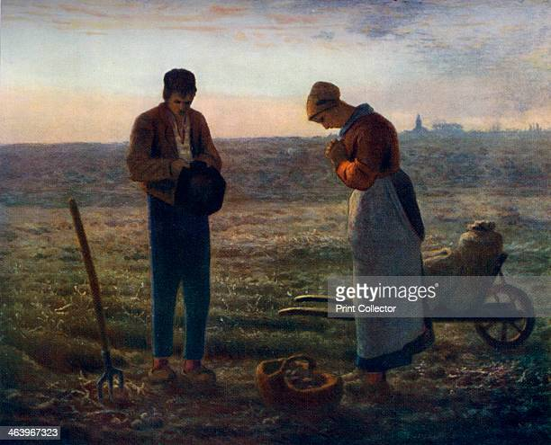 'The Angelus' 18571859 A colour print from Famous Paintings with an introduction by Gilbert Chesterton Cassell and Company