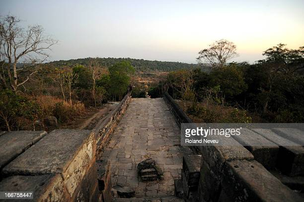 The Angkor-era temple complex of Preah Vihear is located on the border with Thailand, and is again the certain of a row on border demarcation between...