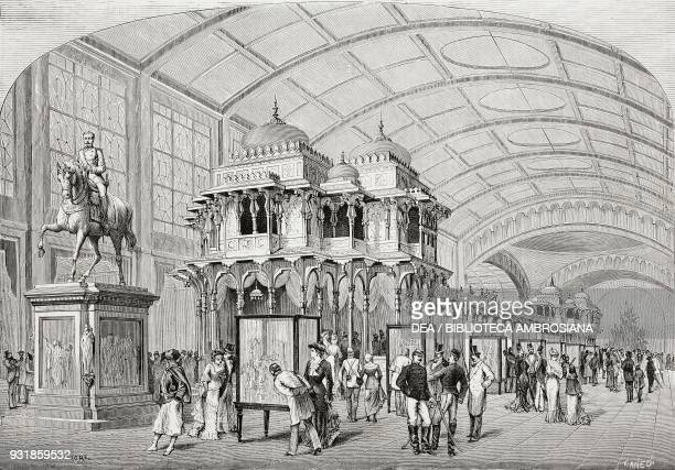 The AngloIndian pavilion 1878 Paris Universal Exposition France drawing by Antonio Bonamore engraving from L'Illustrazione Italiana Year 5 No 21 May...