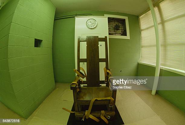 The Angola penitentiary is one of the largest prisons in the world with more than 5000 inmates and two death row units The electric chair