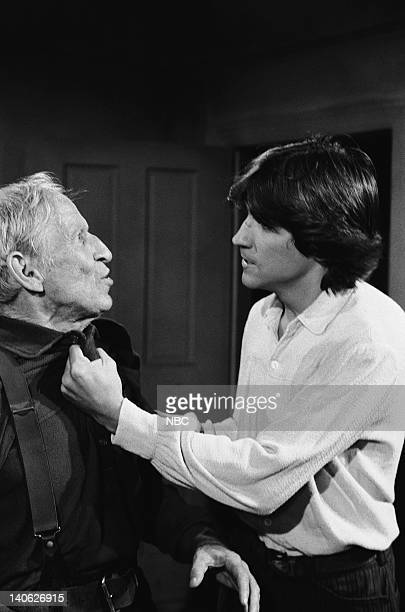 PRAIRIE The Angry Heart Episode 13 Aired 12/17/79 Pictured Malcolm Atterbury as Brewster Davenport Timothy Wead as Tod Dortmunder Photo by NBCU Photo...