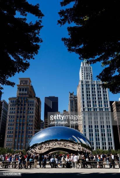 The Anish Kapoor designed sculpture Cloud Gate Nicknamed The Bean in Millennium Park Chicago Buildings and Landmarks Chicago