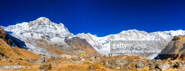 The Annapurna mountain range at the Annapurna Base Camp (ABC), Nepal.