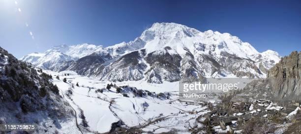 The Annapurna trek is a 160230 km trek encircling the Annapurna Massif reaching its highest point at Thorung La pass 5416m above sea level Here Braga...