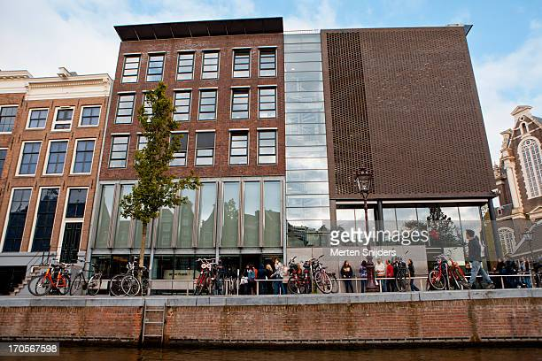 the anne frank house on prinsengracht - anne frank house stock pictures, royalty-free photos & images
