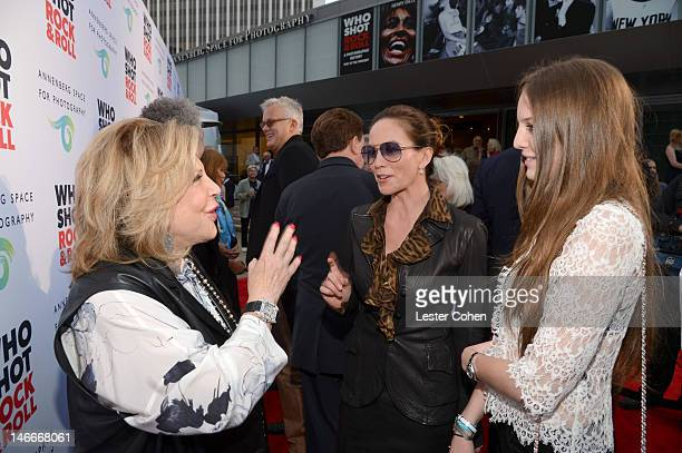 The Annenberg Foundation President and Chairman of the Board Wallis Annenberg actress Diane Lane and Eleanor Lambert attend the Who Shot Rock Roll...