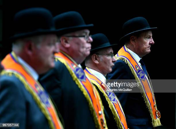 The annual 12th of July Orange march and demonstration takes place on July 12 2018 in Belfast Northern Ireland The marches across the province...
