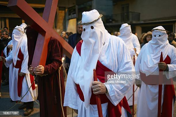 The annual all night procession and ritual of Vattienti Verbicaro Italy April 6 2012 The Rite of the Vattienti which dates back to the 13th century...
