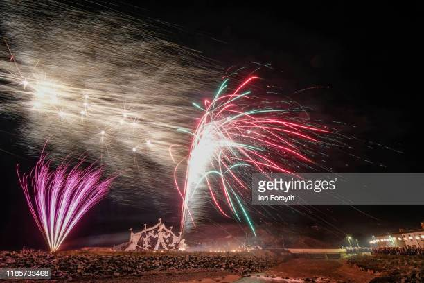 The annual bonfire and fireworks display takes place on November 05 2019 in Redcar England The theme for the display this year was the 'greatest...