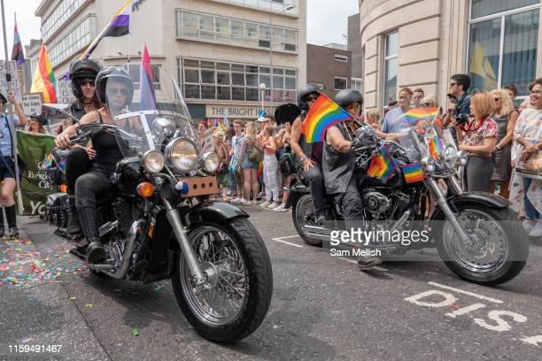 The annual Brighton Pride parade on the 3rd August 2019 in Brighton in the United Kingdom