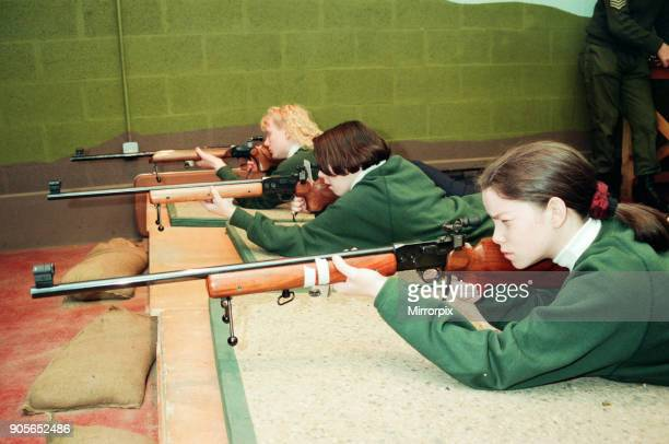 The annual Cadet Challenge Territorial Army Centre Coulby Newham 23rd January 1994 The Army Cadet team on the target range left to right Sharon Toner...