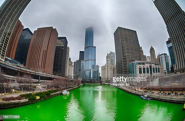 The annual dyeing of the Chicago River 2013 edition. Every St. Patrick's Day celebration in Chicago, the Chicago River is dyed emerald green just...