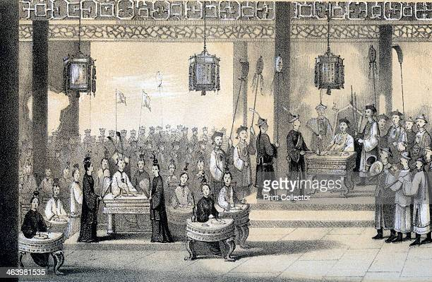 'The annual festival celebrating the emperor's birthday revived by KublaiKhan' 1847 Scene in the Chinese imperial court Illustration from The History...