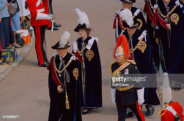 The annual Garter Services procession takes place in Windsor UK 16th June 1997 The ceremony is attended by members of the Order of the Garter...
