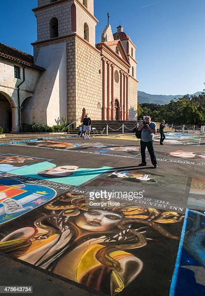 The annual I Madonnari Festival featuring chalk street painting takes place at the old Mission Santa Barbara in downtown on May 25 in Santa Barbara...