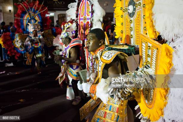 The annual Junkanoo Parade celebrated on New Year's Day celebrated across the Bahamas. The largest of which occurs in the capital city of Nassau.