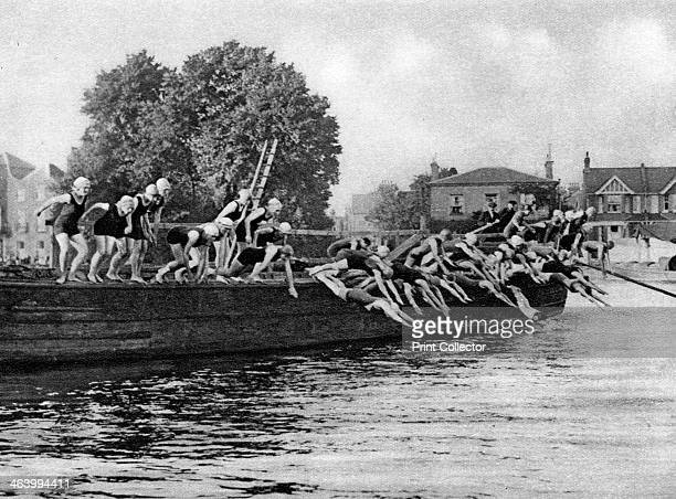 The annual Kew to Putney ladies' swimming race London 19261927 From Wonderful London volume II edited by Arthur St John Adcock published by...