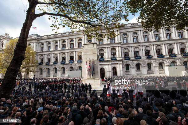 The annual Remembrance Sunday memorial is held around the Cenotaph on Whitehall on November 12 2017 in London England The Prince of Wales senior...