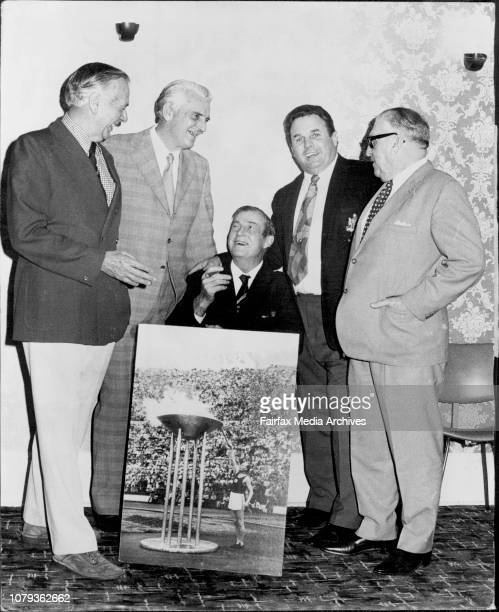 The annual reunion for the 1952 Olympic Games representation and officials was held at Coogee tonight Sid Grange Vice President of the Australia...