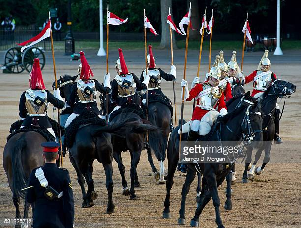 The annual spectacle of Beating Retreat by members of the Household Division at the Horse Guards Parade which included a re-enactment of the Battle...