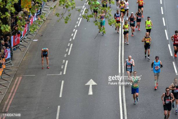 The annual Virgin Money London Marathon from Greenwich to the Mall on April 28 2019 in London England PHOTOGRAPH BY Matthew Chattle / Barcroft Images
