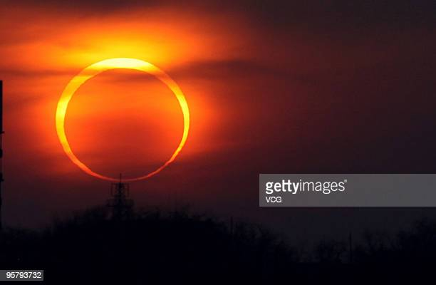 The Annular Solar Eclipse occurs on January 15, 2010 in Qingdao, Shandong Province of China. The eclipse, which first became visible in Tamil Nadu...