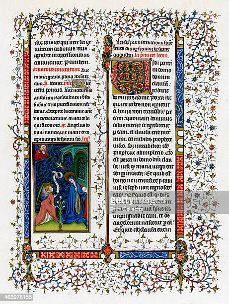 The Annunciation 14131419 From the Breviary of John the Fearless produced in Paris Illustration from Illuminated Manuscripts in the British Museum...