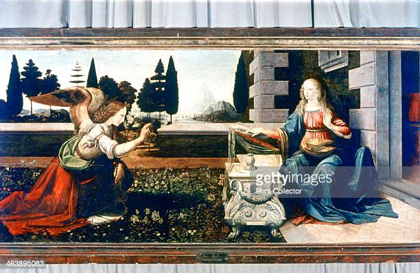 'The Annunciation' 14721475 The Annunciation is the revelation to Mary the mother of Jesus by the archangel Gabriel that she would conceive a child...
