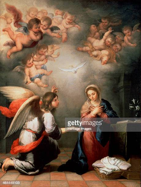 'The Annunciation' 1660s Murillo Bartolomé Estebàn Found in the collection of the State Hermitage St Petersburg