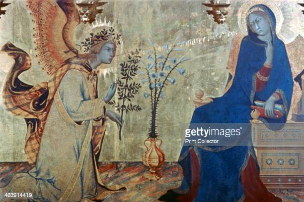 'The Annunciation and Two Saints' 1333 From the collection of the Galleria degli Uffizi Florence