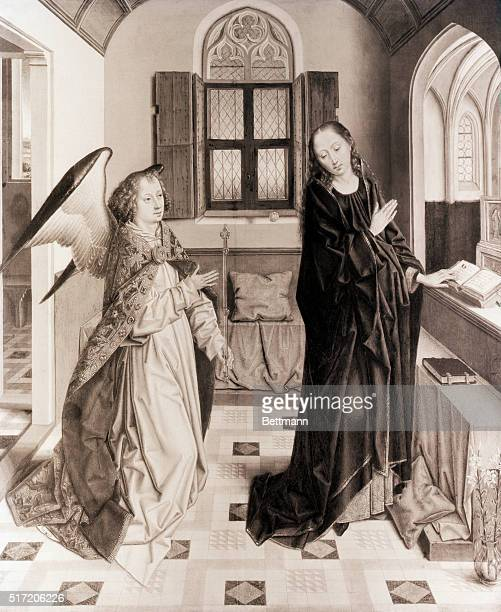 'The Annunciation' Angel visiting the Virgin Mary to anounce the coming of the son of God by the Flemish painter Albert Bouts BPA2# 148