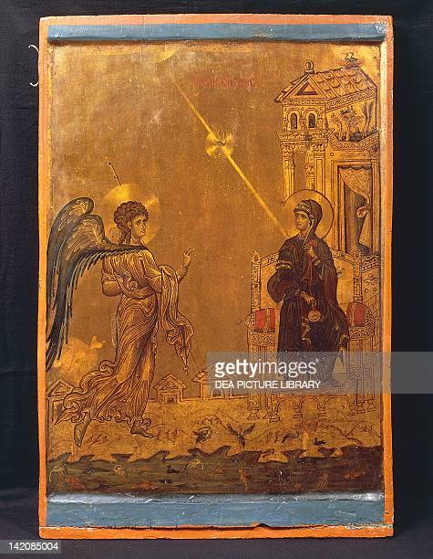 The Annunciation by an anonymous Byzantine Icon St Catherine's Monastery Sinai Egypt 12th Century