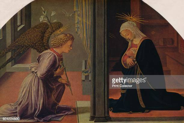 'The Annunciation' c14351440 The painting is part of the Kress Collection National Gallery of Art Washington DC From Masterpieces of Painting edited...