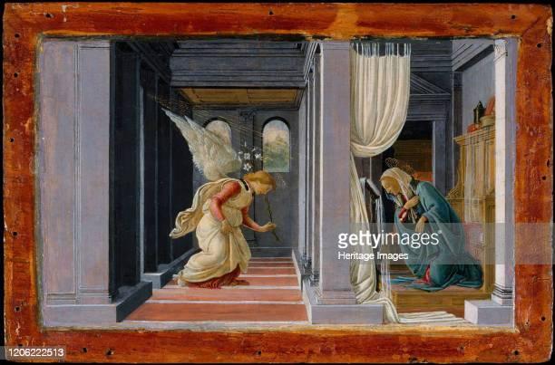The Annunciation, circa 1485-92. Artist Sandro Botticelli.