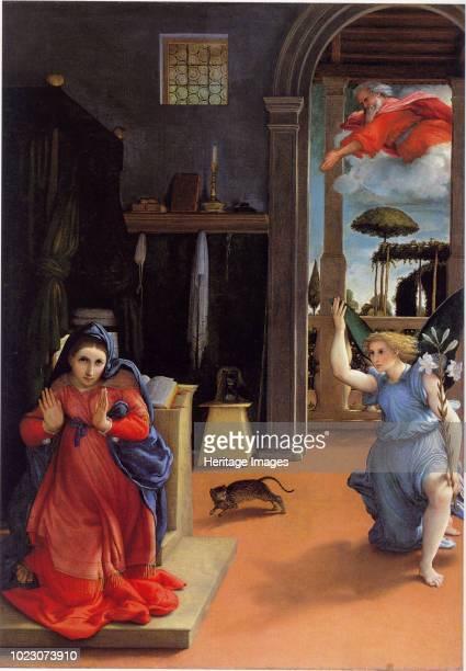 The Annunciation, circa 1534. Found in the Collection of Museo civico Villa Colloredo Mels, Recanati.