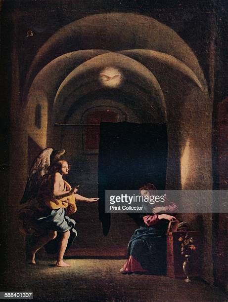 The Annunciation' circa 16251630 Painting held in the Wadsworth Atheneum Art Museum Conneticut From The Studio Volume 102 Artist Giovanni Battista...