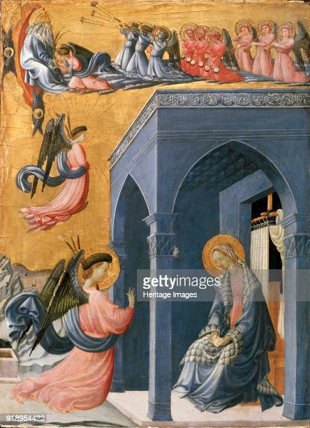 The Annunciation early 1420s Dimensions height x width x depth 65 x 48 cm