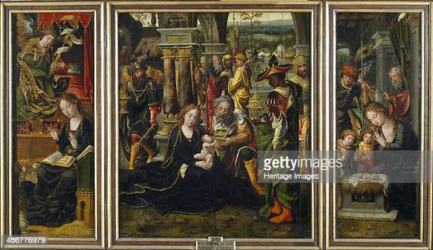 The Annunciation The Adoration of the Magi The Adoration of the Shepherds Second Quarter of the 1 Artist Coecke van Aelst Pieter the Elder