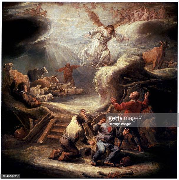 'The Annunciation to the Shepherds' 17th century The Angel appears to inform the shepherds of the Birth of Christ Found in the collection of the...