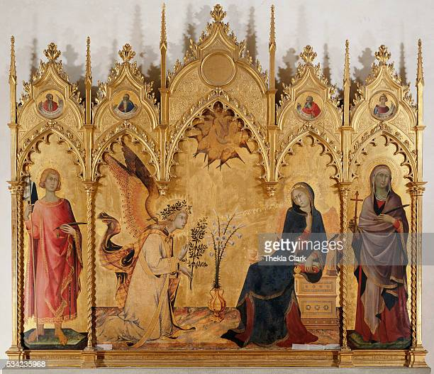 The Annunciation with Two Saints by Simone Martini