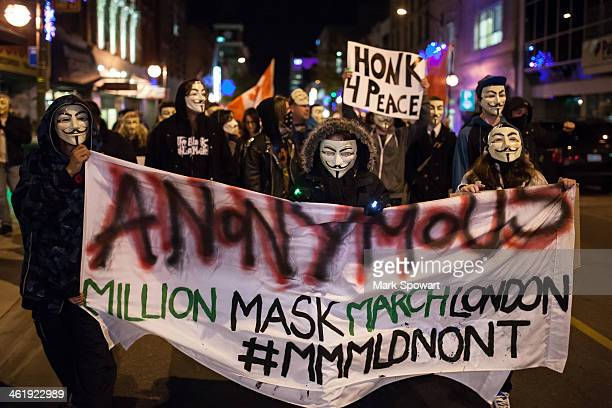 "The Anonymous movement, a continuation of the Occupy protest of 2011-2012 made a comback around the world on November 5, 2013 as the ""Million..."