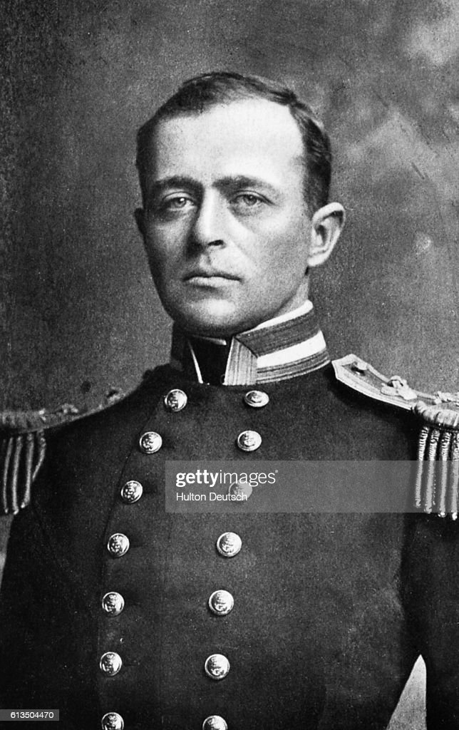 The Antarctic explorer Robert Falcon Scott (1868-1912). In 1912 his expedition party reached the South Pole, but all died on the return journey.