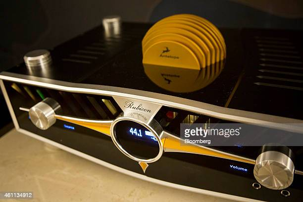 The Antelope Audi Rubicon Atomic AD/DA Preamp which retails for $40 is displayed during the 2015 Consumer Electronics Show in Las Vegas Nevada US on...