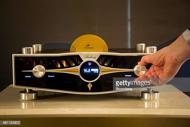 The Antelope Audi Rubicon Atomic AD/DA Preamp which retails for $40 is demonstrated during the 2015 Consumer Electronics Show in Las Vegas Nevada US...